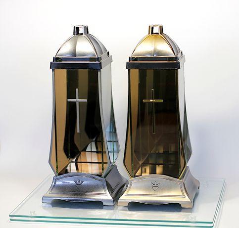 Znicz lampion atelier infinity podwójne lustro srebrny/złoty