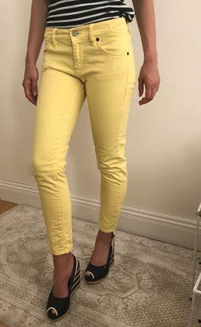Spodnie jeansy Ralph LAUREN pastelowe summer look denim skinny XS