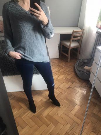 Sweter Zara szary M/L