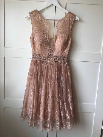 """Sukienka koronkowa, małe"""" M"""" na wesele, urodziny.."""