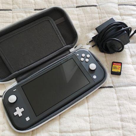 Nintendo Switch Lite + jogo Mario e acessórios