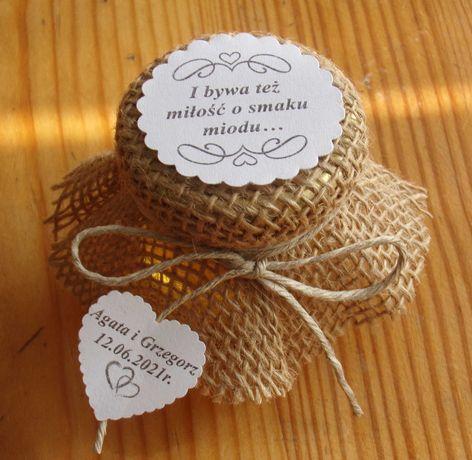 Miodek, miodzik weselny - prezent dla gosci
