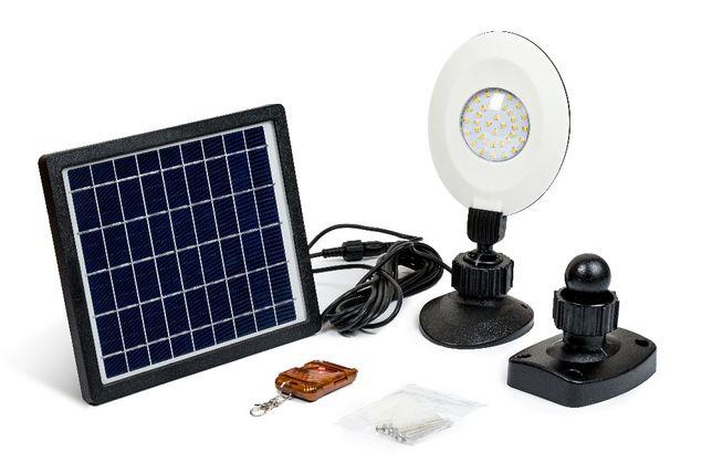 Lampa Solarna Pilot B CIEPŁA Taras Ogród Aranżacje