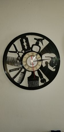 Relógio de Parede em Vinil - CABELEIREIRO