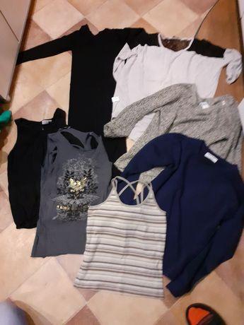 Zestaw ubrań S/M damskie spodnie sukienki bluzki