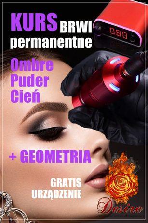 Szkolenie Kurs Makijaż Permanentny Brwi z urządzeniem Permanentne brwi