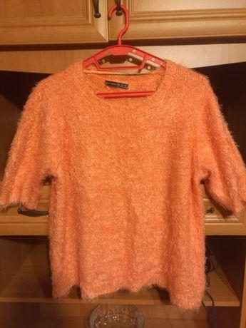 Pomarańczowa bluzka włochata 48