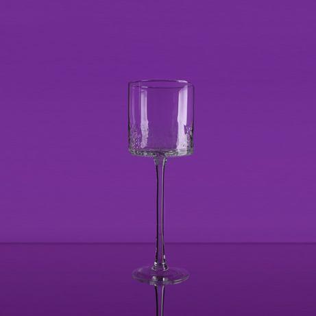 Świecznik szklany - mrożony