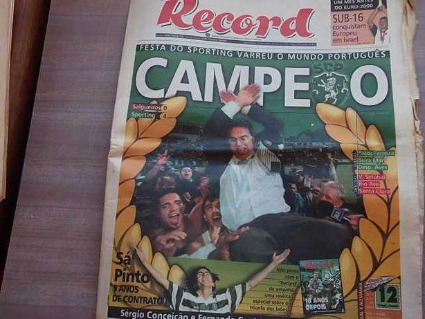 SPORTING CAMPEÃO NACIONAL 1999/2000 Record COMPLETO