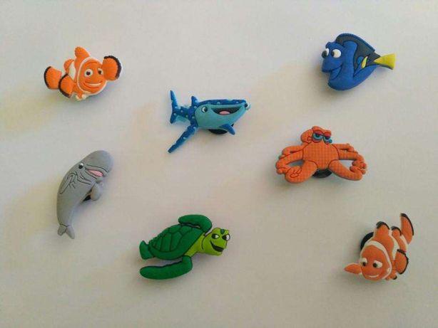 Pins do Nemo & Dory para pulseiras ou crocs