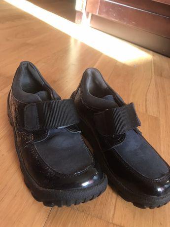 Туфли для мальчика кожа лак/ натур нубук р29-30