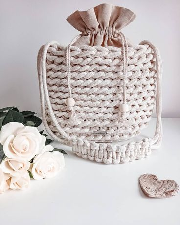 Torebka boho handmade pleciona