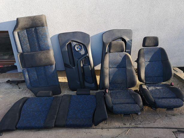 Wnętrze bmw e36 compact sportsitze boa boa niebieskie cabrio coupe