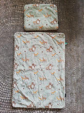 Amaloo zestaw komplet kocyk kołderka z wypełnieniem z poduszka