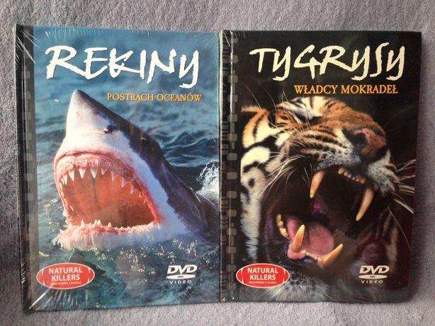 DVD 2 filmy Tygrysy i Rekiny, nowe w folii