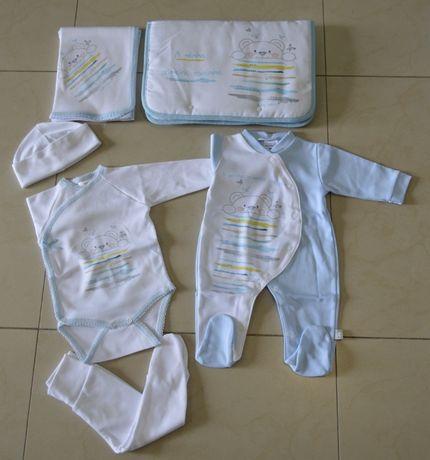 Conjunto da primeira roupinha para bebe