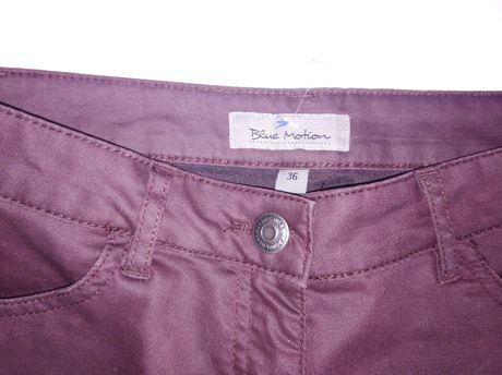 Spodnie bordowe r 36
