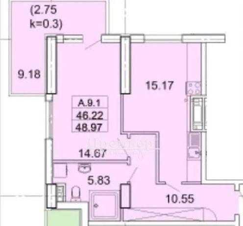Шикарное предложение! 1-комнатная квартира. 5 ст. Б. Фонтана