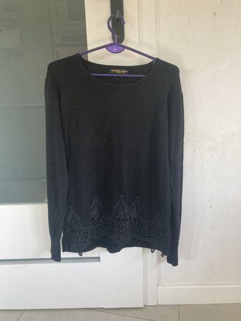 Nowy sweterek s/m koronka cyrkonie