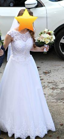 Suknia ślubna biała XS S