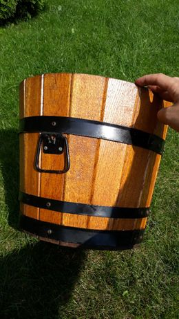 Drewniana donica,doniczka na palmę-duża