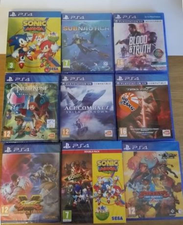 Jogos PS4, Ni No Kuni, Spider Man, The Outer worlds,Code Vein