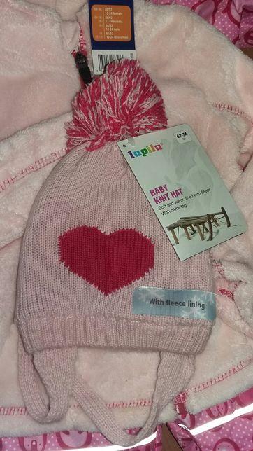Lupilu 62-74 шапка шапочка зима осінь