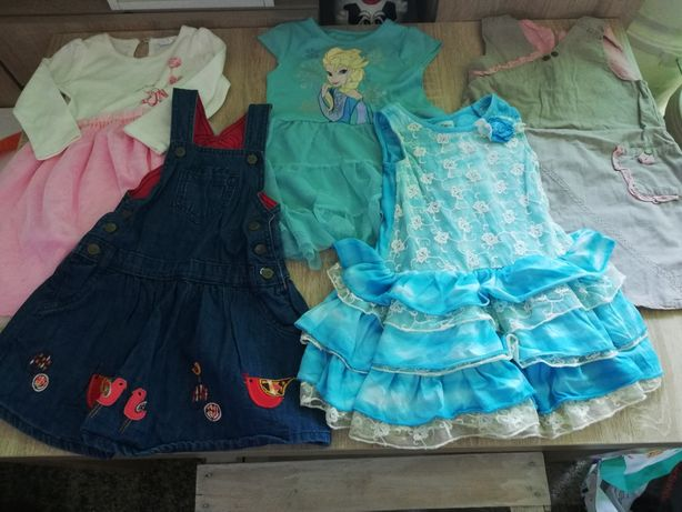 Ubranka dla dziewczynki rozmiar 92-98