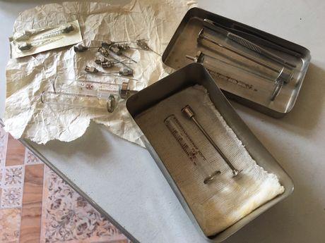 Продам шприцы СССР, иглы,стереллизатор