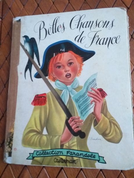 Śpiewnik z nutami w j.francuskim