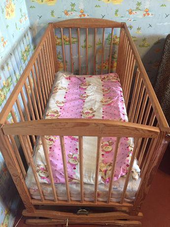 Детская кровать с новым матрасом