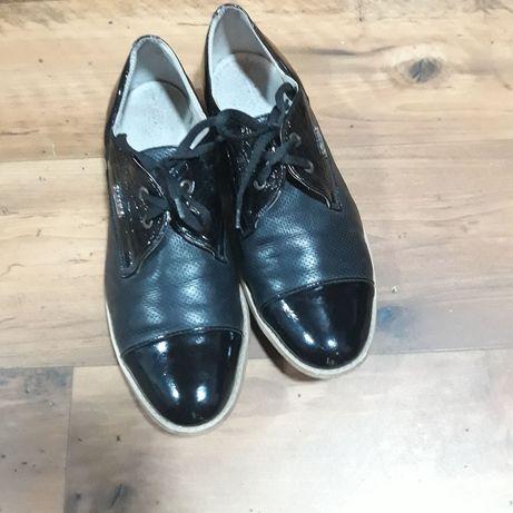 Туфли лоферы натуральная кожа