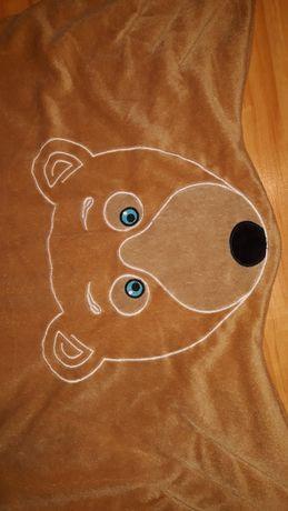 Kocyk mata miś dla dziecka dywanik  grubszy
