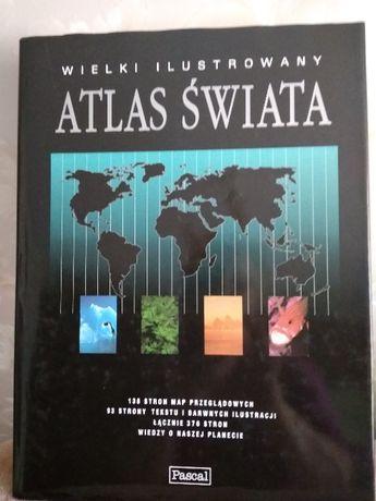 sprzedam wielki ilustrowany atlas świata
