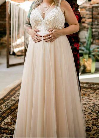 Suknia ślubna boho ( ciążowa)