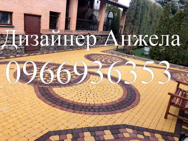 Дизайн укладки тротуарной плитки и планировка территории