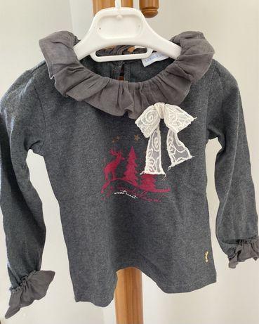 T-shirt de manga comprida/blusa de menina 4 anos da Lanidor