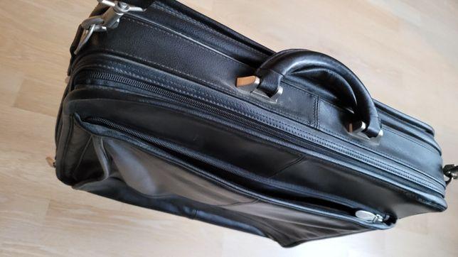 Profesjonalna torba biznesowa, skórzana, neseser