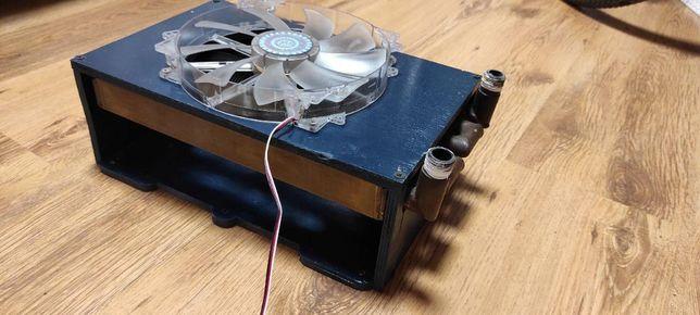 Радиатор сво самодельный. Водяное охлаждение. медный. 200 мм кулер