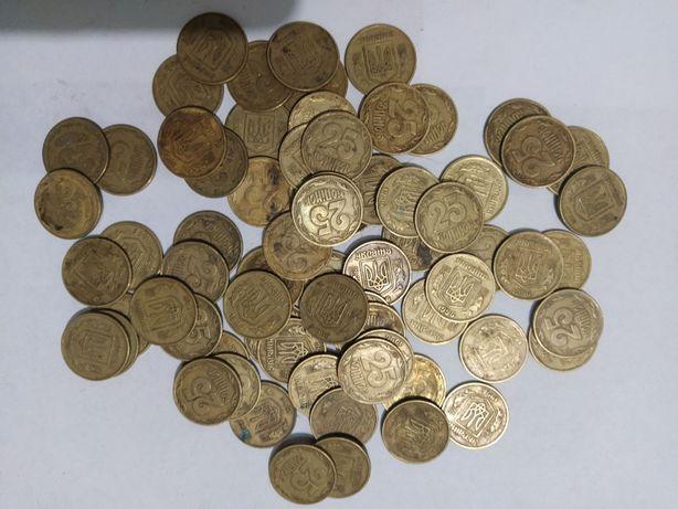 Продам 25 копеек Украина 1996 год одним лотом