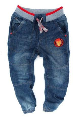 Smyk Avengers iron man jeansy baggy boyfriend 122 pumpy joggersy