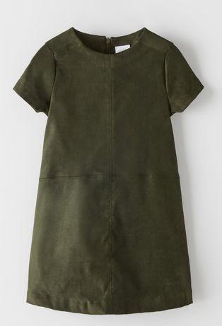 Sukienka zieleń z zamszu Zara roz. 116 nowa