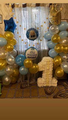 Единица и декор на день рождения