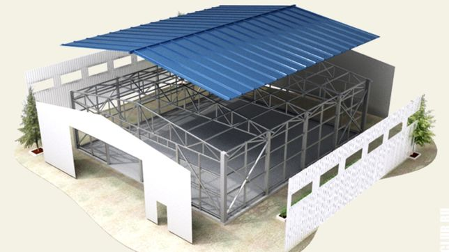 Ангар, склад, цех, СТО 32*66 висота 8м будівництво приміщень з металу