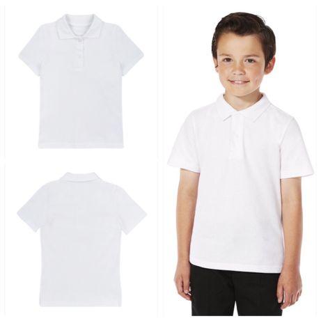 Белая футболка-поло х/б by Tu 7/8года 128см 50 грн