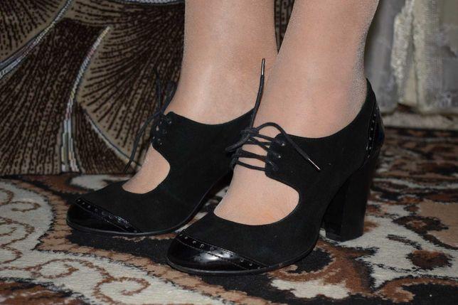 Осенние туфли 37 размера,кожа.