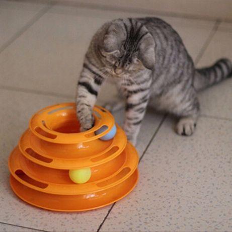 Игрушка для кота пирамида. Track Ball для кошки.