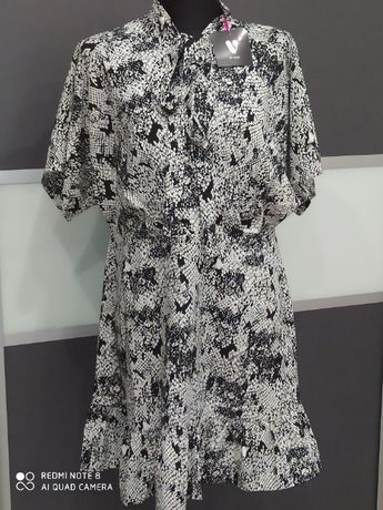 Sukienka BY VERY r.38/40 M/L biało czarna