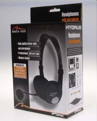 Nowe słuchawki Media-Tech Hydrus z mikrofonem MT378