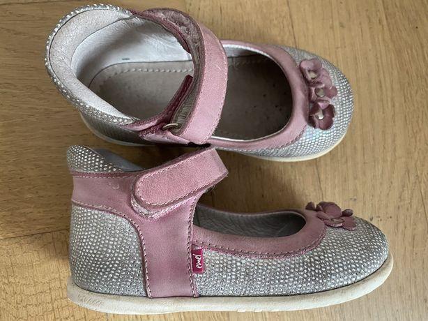 Balerinki pantofle buciki roczki skórzane Emel r. 22